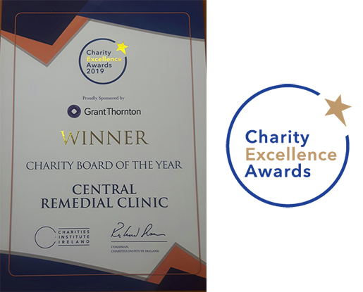 CRC wins at the Charity excellence Awards